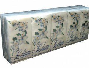 Papírzsebkendõ  3rét 10×10 Liliom