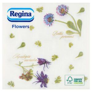 Szalvéta 1rét/45lap 33×33 Flower nagyvirág mintás 24csom/30krt/rkl Regina