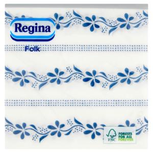 Szalvéta 1rét/45lap 32×32 Folk búzavirág mintás Mix(2) 28csom/30krt/rkl Regina