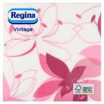 Szalvéta 1rét/45lap 33×33 Vintage kék/ciklámen virág Mix(2) 24csom/30krt/rkl Regina