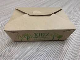 Elviteles ételes doboz barna kraft papír+PLA 50db/cs 200db/karton 12723