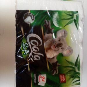 Toalett papír 3rét 24tek Coala Soft 4cs/zsák 30zsák/raklap