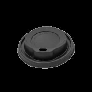 Papírpohár tetõ (ivólyukkal) 250ml PS fekete 100db/10csom/krt